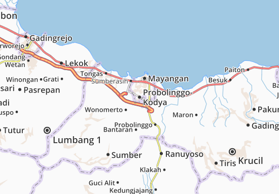 Mapas-Planos Probolinggo-Kodya