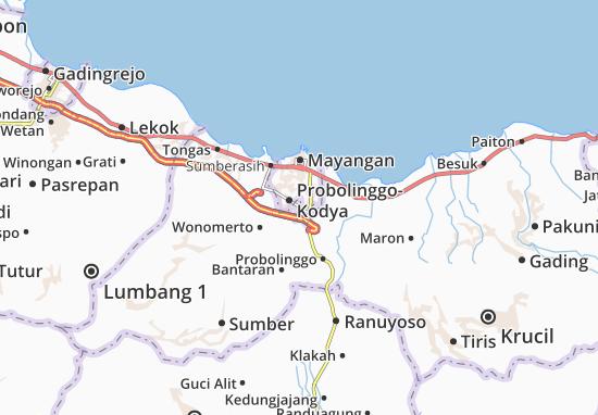 Wonoasih Map