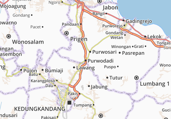 Purwodadi Map