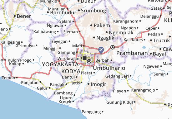 Map of Yogyakarta Royalty Free Vector Image - VectorStock