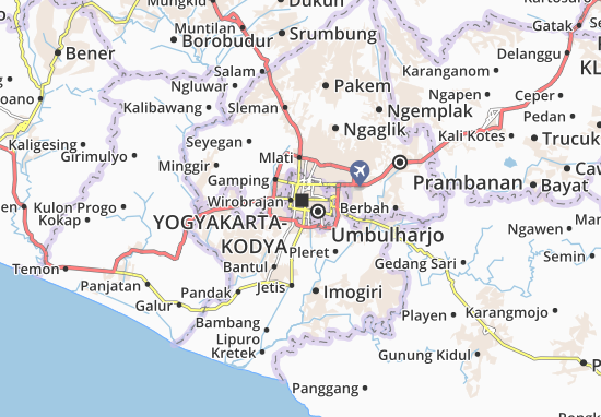 Kraton Map: Detailed maps for the city of Kraton - ViaMichelin