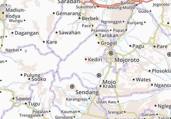 Kediri Map