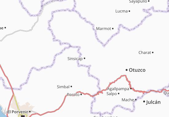 Kaart Plattegrond Sinsicap