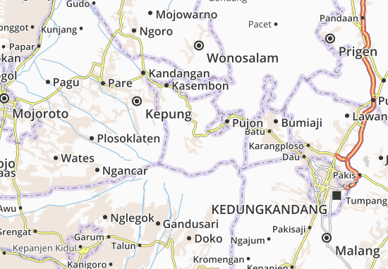 Ngantang Map