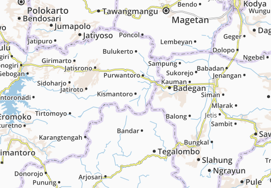 Mappe-Piantine Kismantoro