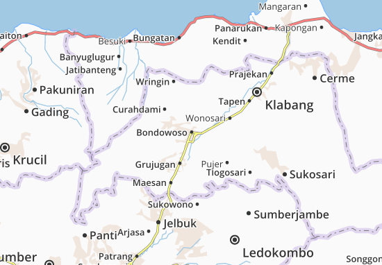 Bondowoso Map