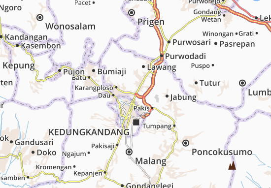 Singosari Map