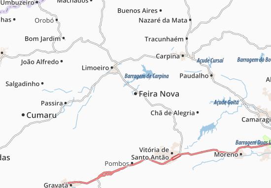 Feira Nova Map