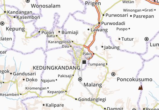 Lowokwaru Map