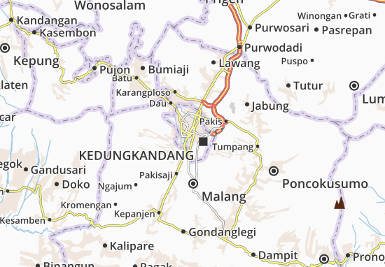 Malang-Kodya Map