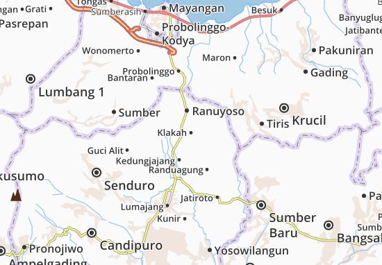 Klakah Map