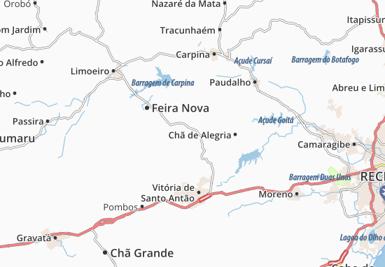 Glória do Goitá Map