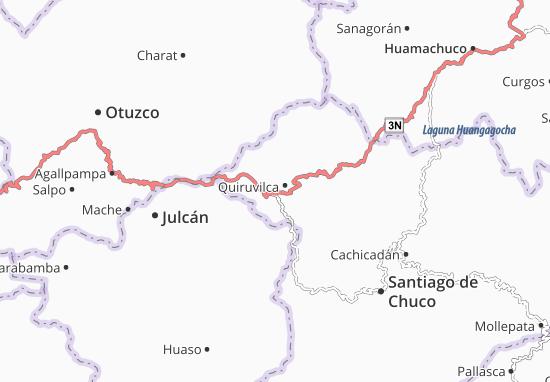 Kaart Plattegrond Quiruvilca