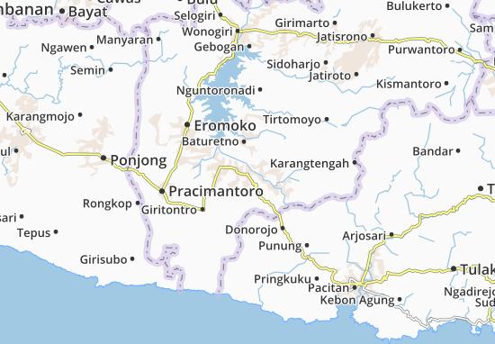 Giriwoyo Map