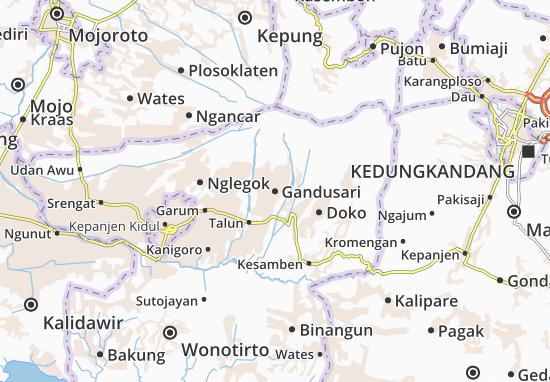 Gandusari Map