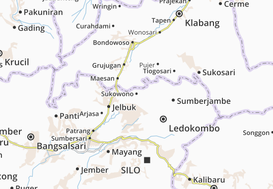 Sukowono Map