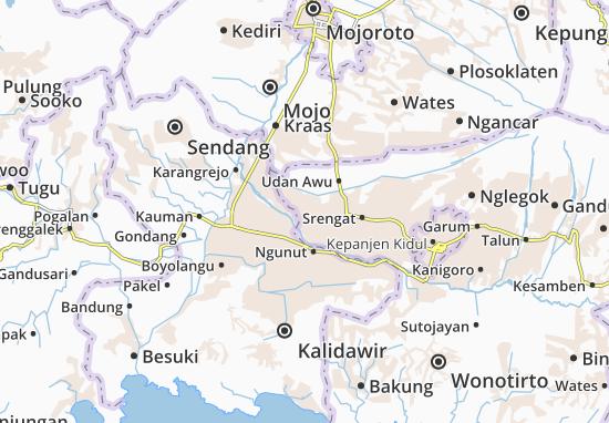Wonodadi Map