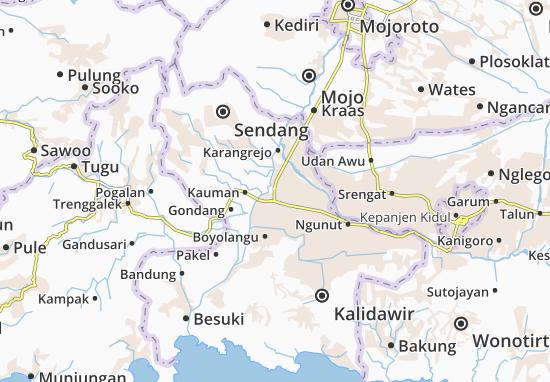 Kedungwaru Map