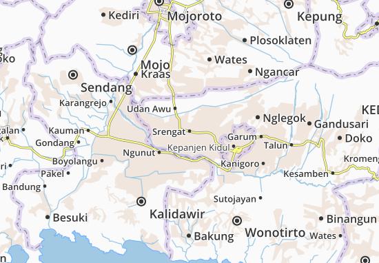 Srengat Map