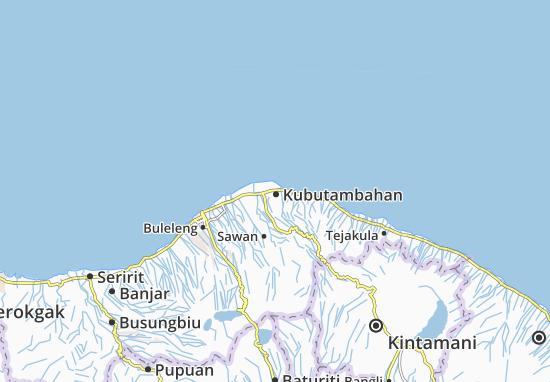 Kubutambahan Map