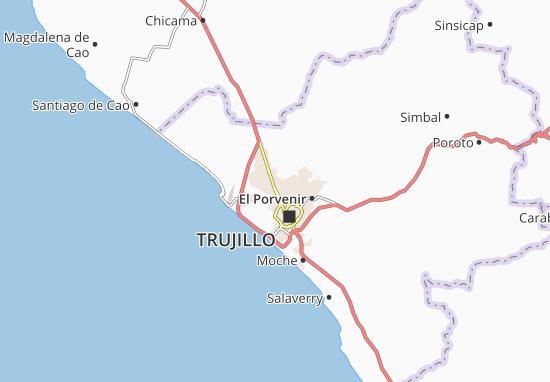 Kaart Plattegrond La Esperanza