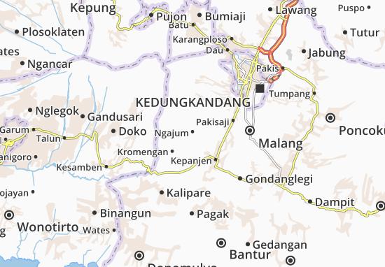 Ngajum Map