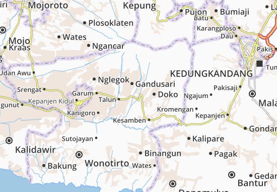Wlingi Map