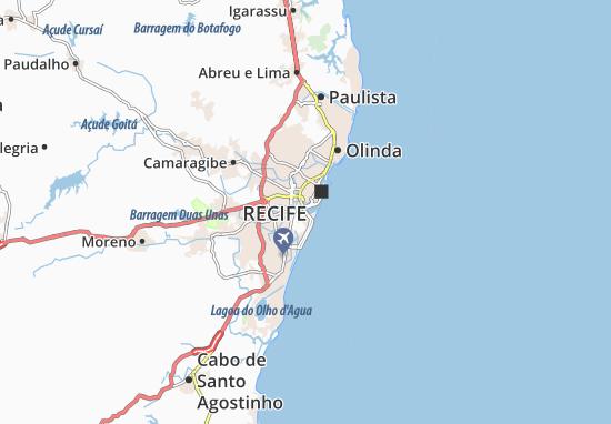 Map Of Cabanga Michelin Cabanga Map ViaMichelin - Cabo de santo agostinho map