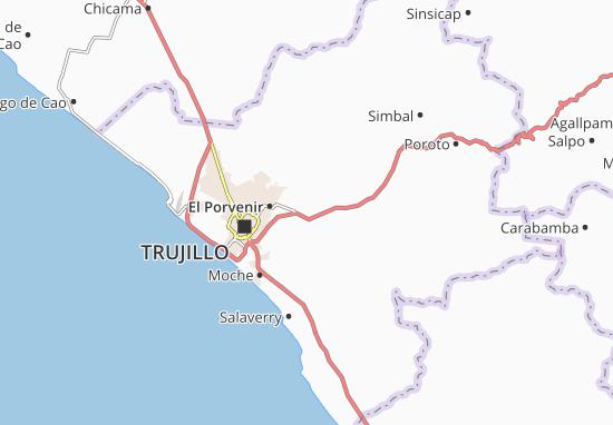 Kaart Plattegrond Laredo