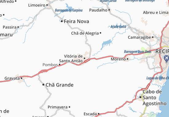 Vitória de Santo Antão Map