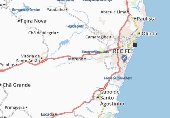 Map Of Moreno Michelin Moreno Map ViaMichelin - Cabo de santo agostinho map