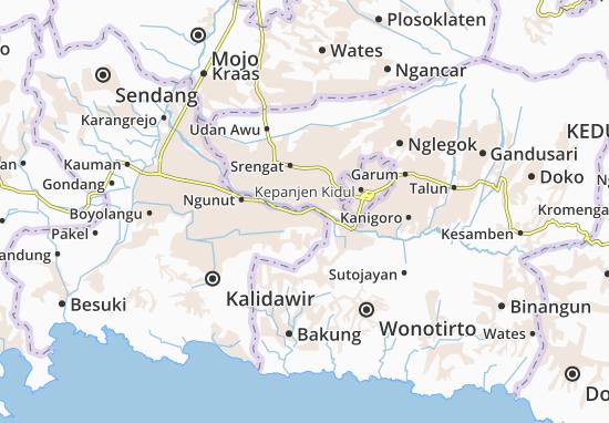 Rejotangan Map