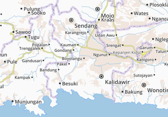 Boyolangu Map