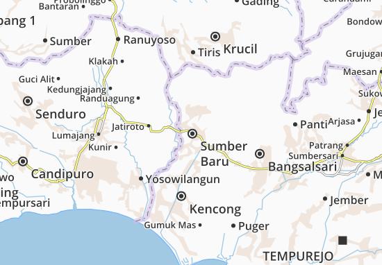 Sumber Baru Map