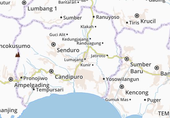 Lumajang Map