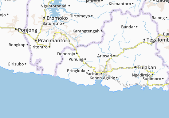 Punung Map
