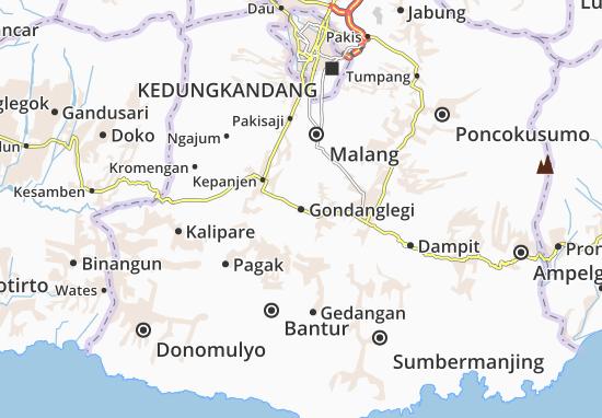 Gondanglegi Map