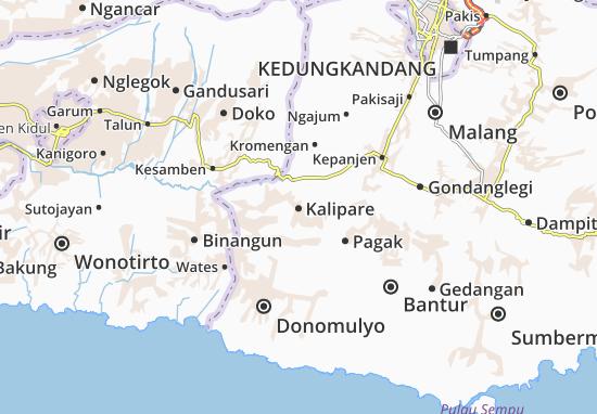 Kalipare Map