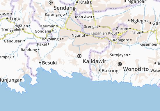 Kalidawir Map
