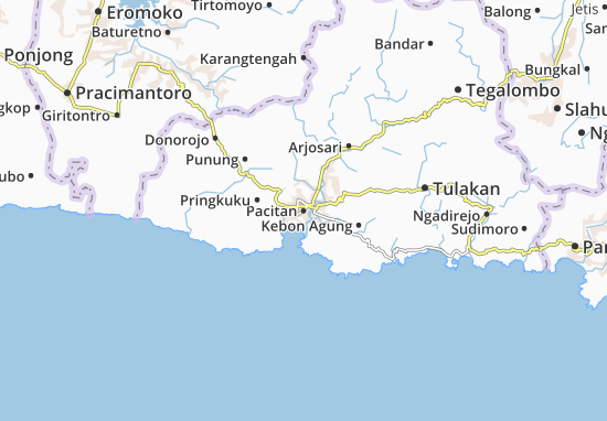 Mappe-Piantine Pacitan