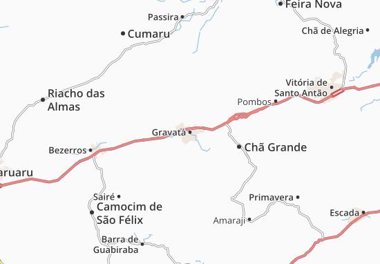 Gravatá Map