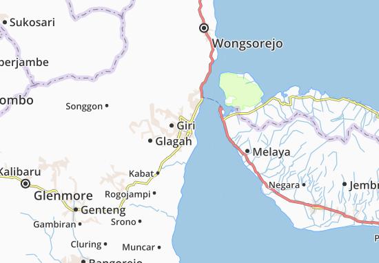 Carte-Plan Banyuwangi