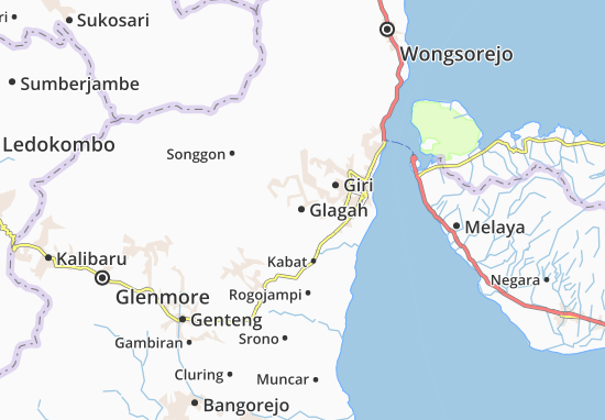 Carte-Plan Glagah