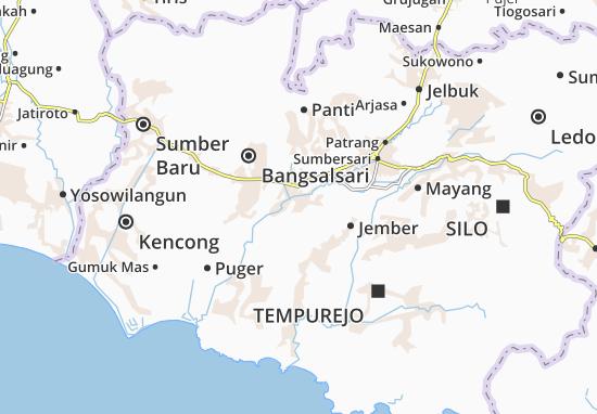 Carte-Plan Rambipuji