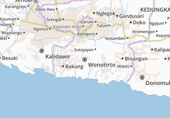 Wonotirto Map