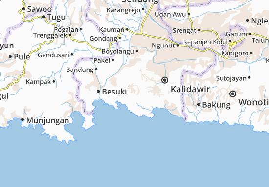 Tanggung Gunung Map