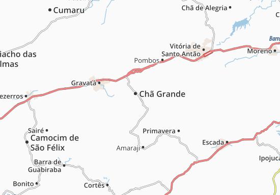 Chã Grande Map