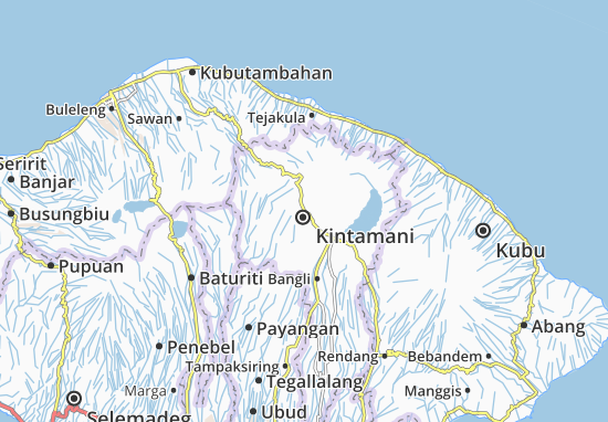 Kaart Plattegrond Kintamani