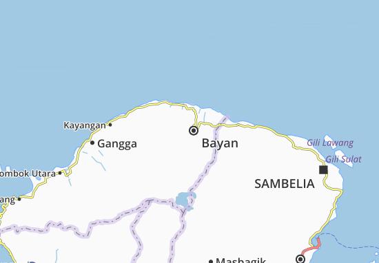 Kaart Plattegrond Bayan