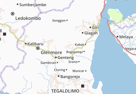 Singojuruh Map